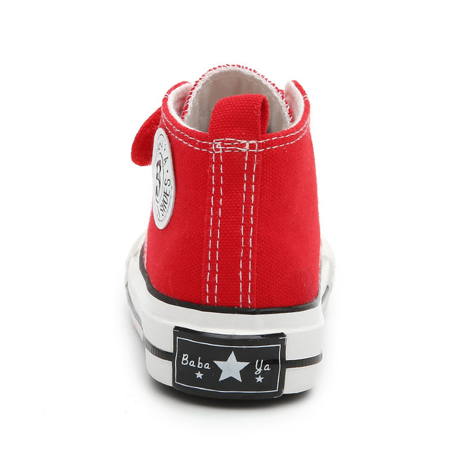 Children Canvas Shoes Girls Sneakers High Boys Shoes Breathble 2018 Spring Autumn New Fashion Small Kids Casual Shoes Toddler