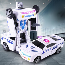 New Robot Transformation Bus Car Toys Alloy Deformation Police Robot  Toys for Children Gifts Transformed Toy deformation toys king kong 4 league level ground lamp robot car model children toy boy gifts