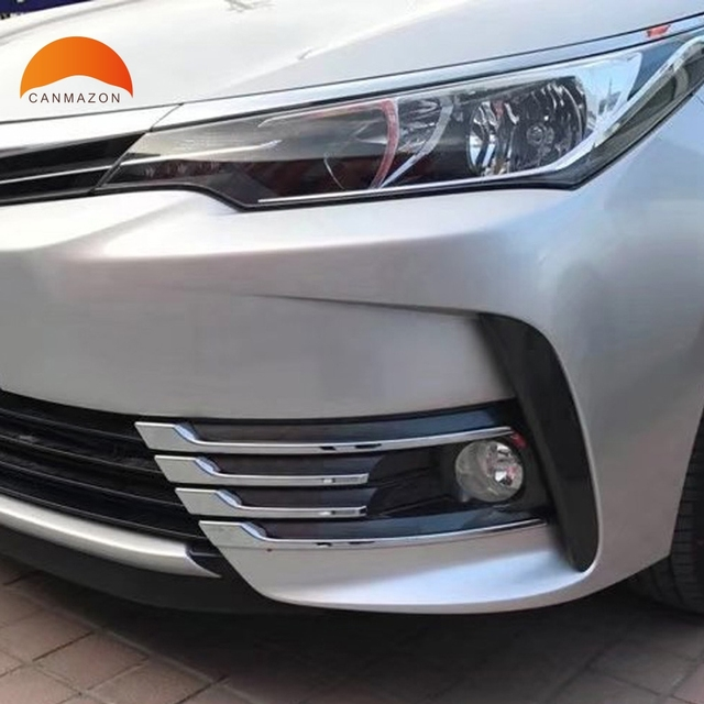 Para Toyota Corolla 2017 2018 Facelift cromado niebla delantera ...