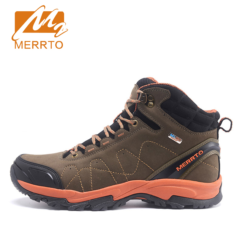 2017 Merrto Mens Outdoor Hiking Shoes Waterproof Thermal Sports Shoes Breathable Walking Shoes For Men Free Shipping MT18628 2017 mens hiking shoes breathable rock climbing camping outdoor sports shoes for men army green black free shipping c101