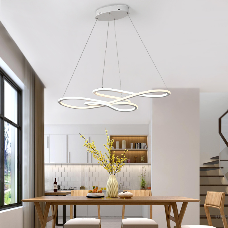 NEO Gleam Double Glow Modern led Pendant Light for Kitchen Dining Living  Room suspension luminaire Hanging Pendant Lamp Fixtures-in Pendant Lights  ...