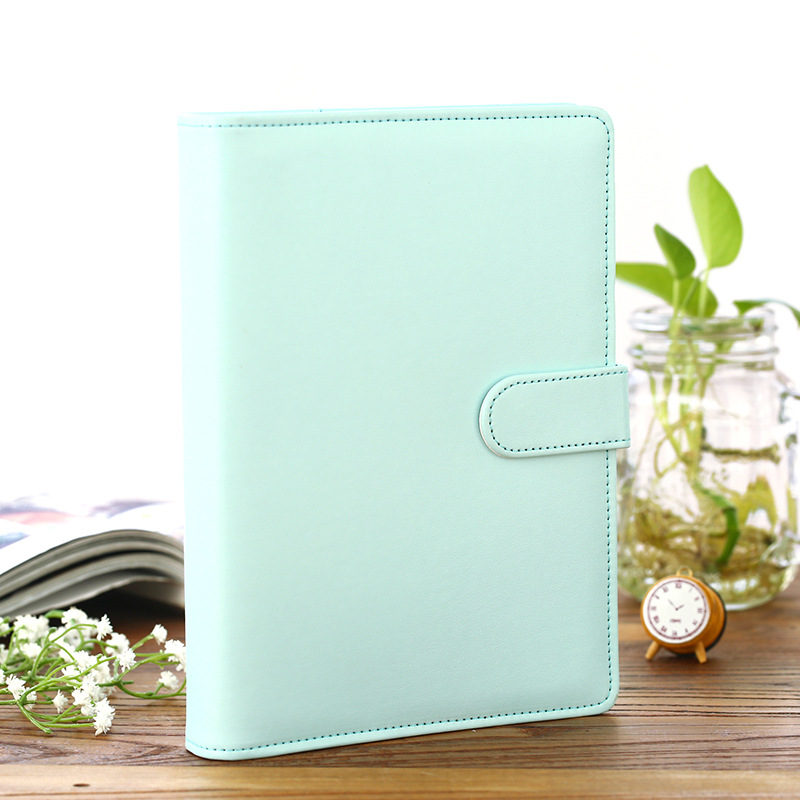 2017 New PU Leather Spiral Journal DIY Cover A5 A6 Suit For Standard Sheets Cute Light Pure Color Cover Gift Free Shipping the lovely colorful world and flamingo fashion diy a5 journal pu leather 216p 2017 students office supplies free shipping