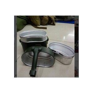 Image 4 - Ordu yemek kabı 3 adet 1 açık kamp seyahat sofra takımı İkinci dünya savaşı almanya askeri kamp yemek kiti kantin su isıtıcısı Pot gıda fincan kase