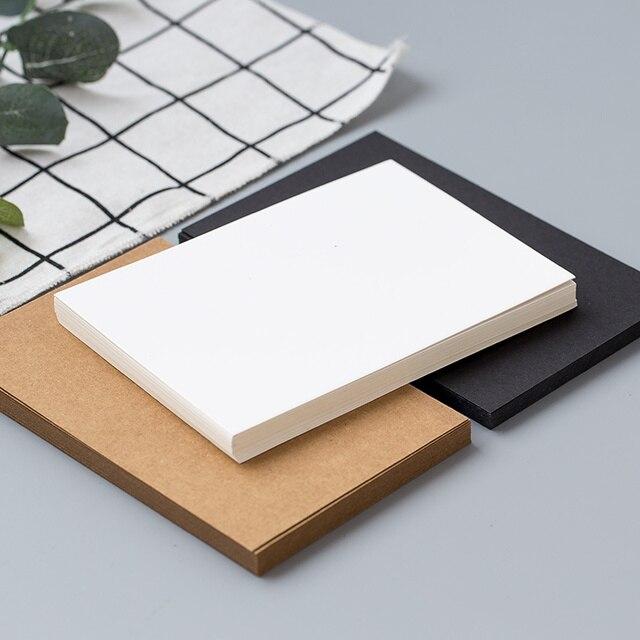(20 sheets/lot) DIY Blank Postcard White Card Paper Scarpbooking Graffiti Greeting Card Black and White Kraft Paper Card 6