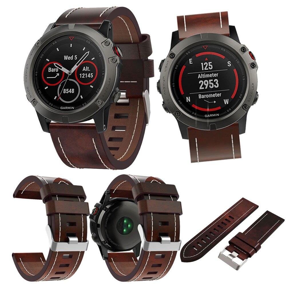26 22 20MM Luxury Leather Watch Strap Replacement Wrist Band For Fenix 5X /Fenix 3/Fenix 5/Fenix 5S/Garmin Forerunner 935 Watch fenix mc11 2014