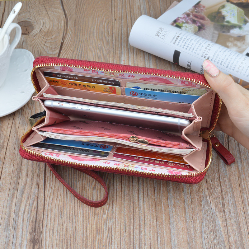 Butterfly For Ms Long Section Zipper Hand Bag 2018 Fashion Holding Wallet High Capacity Korean Version Casual Printing Lanyard