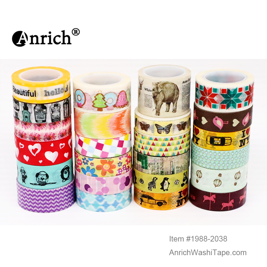 Free Shipping Washi Tape,Anrich Washi Tape #1997-2047,basic Design,colorful,customizable