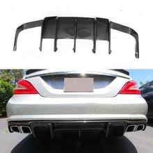 Задний бампер из углеродного волокна для Mercedes Benz CLS Class W218 CLS63 AMG 2011- плавники в стиле акулы