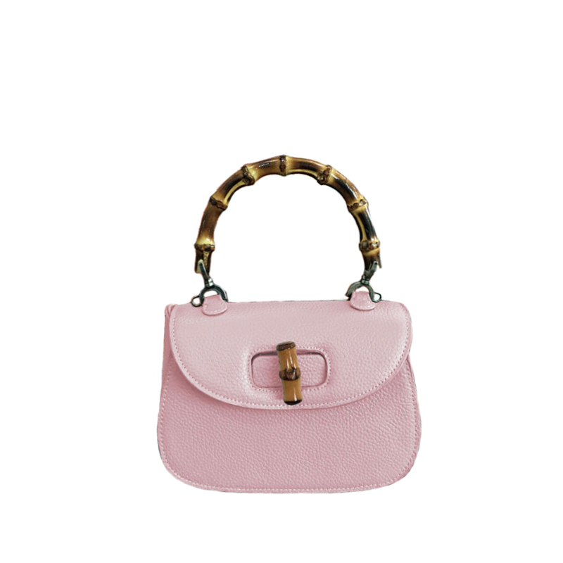 ФОТО New 2017 Brand Celebrity Shell Small Bamboo Lady Tote Women Cowhide Split Leather Handbags For Female Messenger Bags an364
