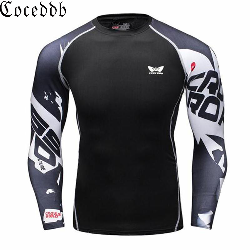 COCEDDB Men Compression Shirt Long Sleeves Male Tops