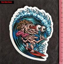 New Surf monster PVC notebook luggage fridge slide sticker Buy 3 Free 1