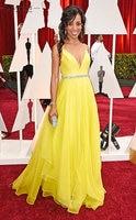 Academy Awards желтые вечерние платья для беременных 2018 шифоновые элегантные платья для выпускного с v образным вырезом и поясом Vestidos De Fiesta XXY351