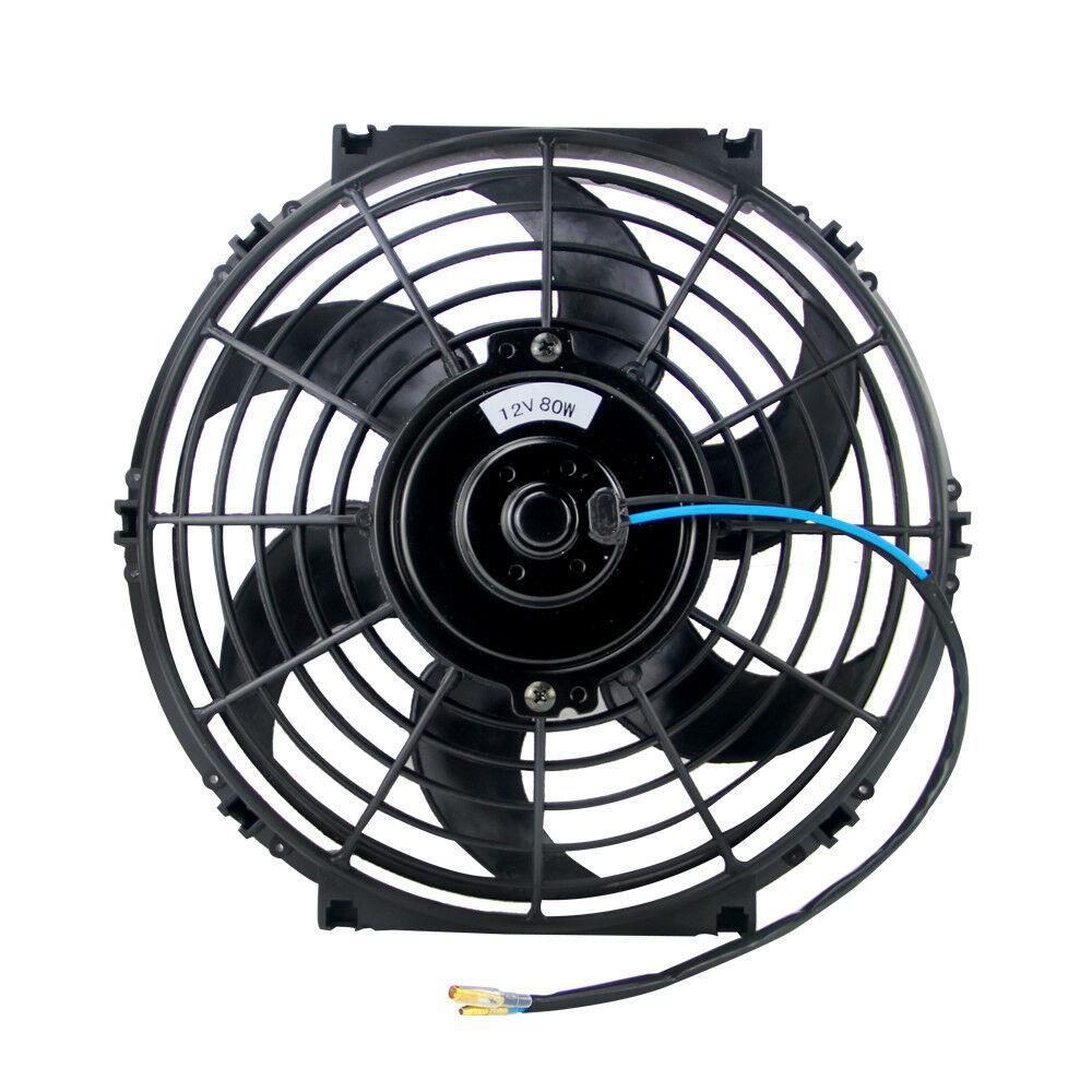 "10/"" inch Universal Slim Pull Push Racing Electric Radiator Engine Cooling Fan"