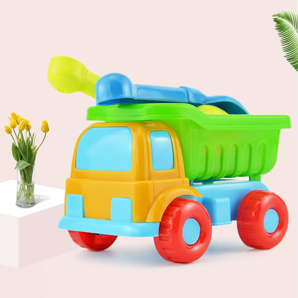 5Pcs/Set Kids Beach Truck Shovel Rake Animal Molds Kit Garden Sandpit Pool Toy