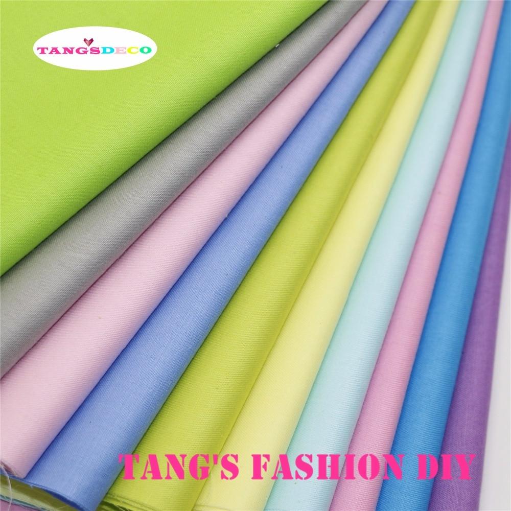 10 adet --- kaliteli 40x50cm diy pamuklu kumaş 10 farklı renk kümesi