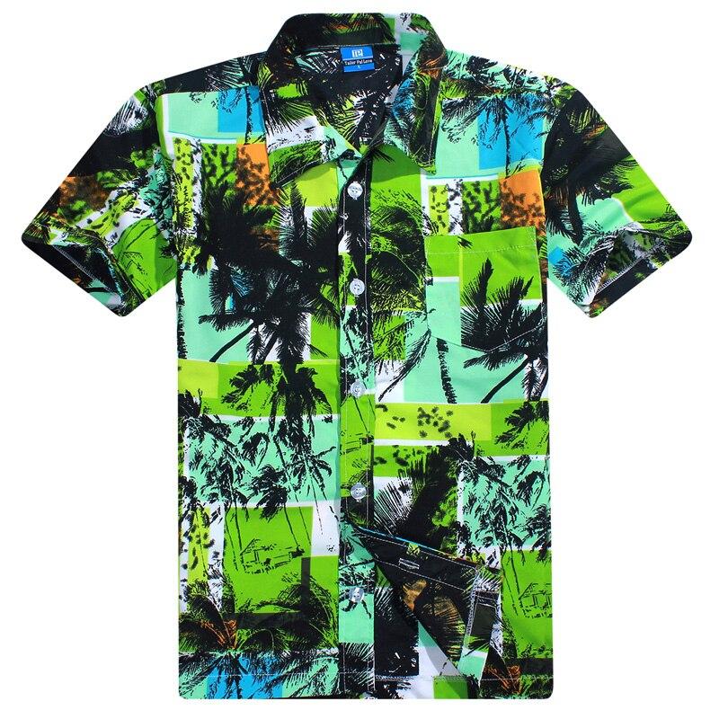 a613ac62988 Brand Mens Hawaiian Shirt Summer Quick Dry Men Loose Aloha Shirt Print  Party Beach Hawaii Shirt Camisa Hawaiana Big Size L-4XL