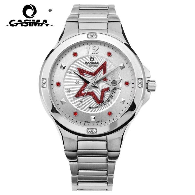 CASIMA Элитный бренд часы Для женщин Мода Повседневное Кристалл Для женщин кварцевые наручные часы Нержавеющаясталь Водонепроницаемый 50 м #...