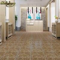 beibehang 11 PCS Flooring leather self adhesive flooring floor thicker wear resistant bedroom plastic 3d floor tiles wallpaper