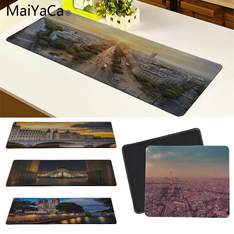 MaiYaCa In Stocked French landscape Customized laptop Gaming mouse pad Size for 180*220 200*250 250*290 300*600 and 300*900*2mm