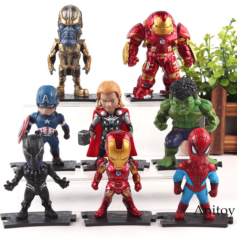7adba13e87e Marvel Avengers Infinity War Action Figures Thanos Hulk Hulkbuster Captain  America Thor Iron Man Black Panther Spiderman Toys-in Action   Toy Figures  from ...