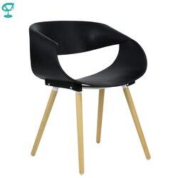 94979 Barneo N-222 стул кухонный стул пластиковый на деревянном основании черный кресло для дачи мебель для дачи кресло для кафе кресло доставка в К...