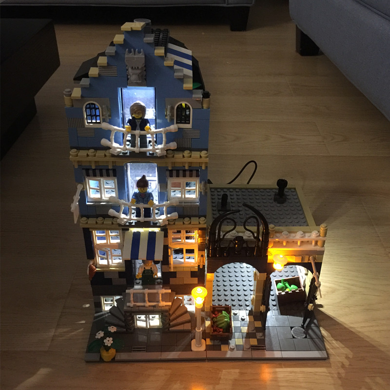 LED light kit(only light included) for LEGO CREATOR MODULAR BUILDING and Blocks house 10246 10243 10228 10190 10185 <font><b>10197</b></font> image
