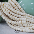Wholesale Zen Buddhism 108mala Ivory White Tagua Nut Carved Beads For Jewelry Making Natural Wood Crafted Seed Beads Full Strand