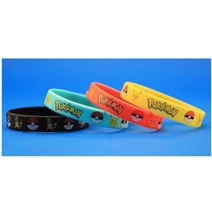 Image 3 - 40pieces Pokemon Go Silicone Bracelets Pikachu Pocket Monster Bangles Hologram Wristbands Party Favors Gift
