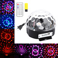 Voice Control Stage Light MP3 IR Remote Digital RGB LED Crystal Magic Ball Stage Effect Lighting Lamp Party Disco Light With USB