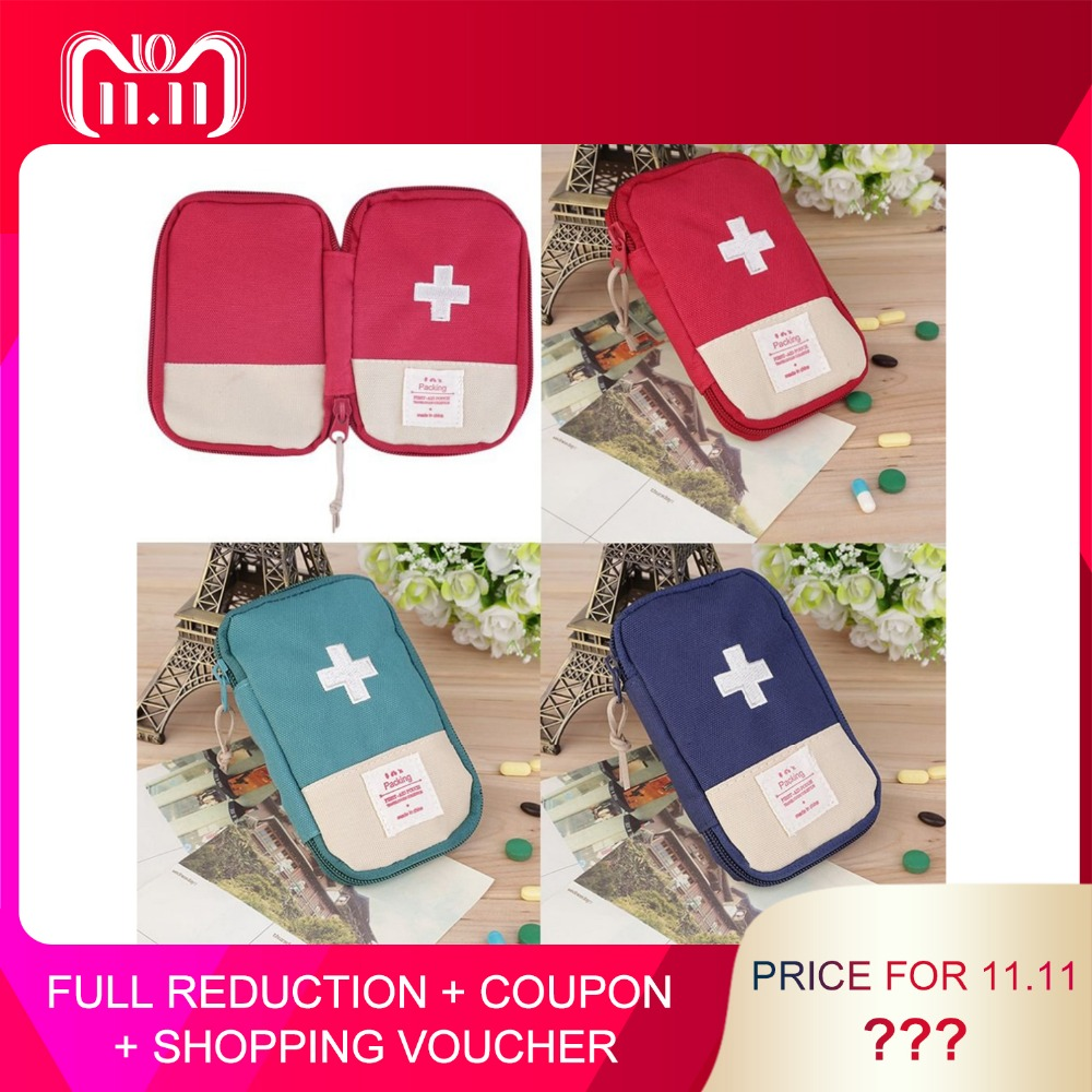 OUTAD First Aid Kit Medical Bag Durable Outdoor Camping Home Survival Portable first aid bag bag Case Portable 3 Colors Optional red 2l portable outdoor waterproof first aid bag medical life saving bag camping travel disaster relief first aid kit