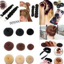 Головные уборы для девушек резинка для волос инструмент ролик Стайлинг MagicTwist Maker кольцо быстро булочка пончик Женская пов