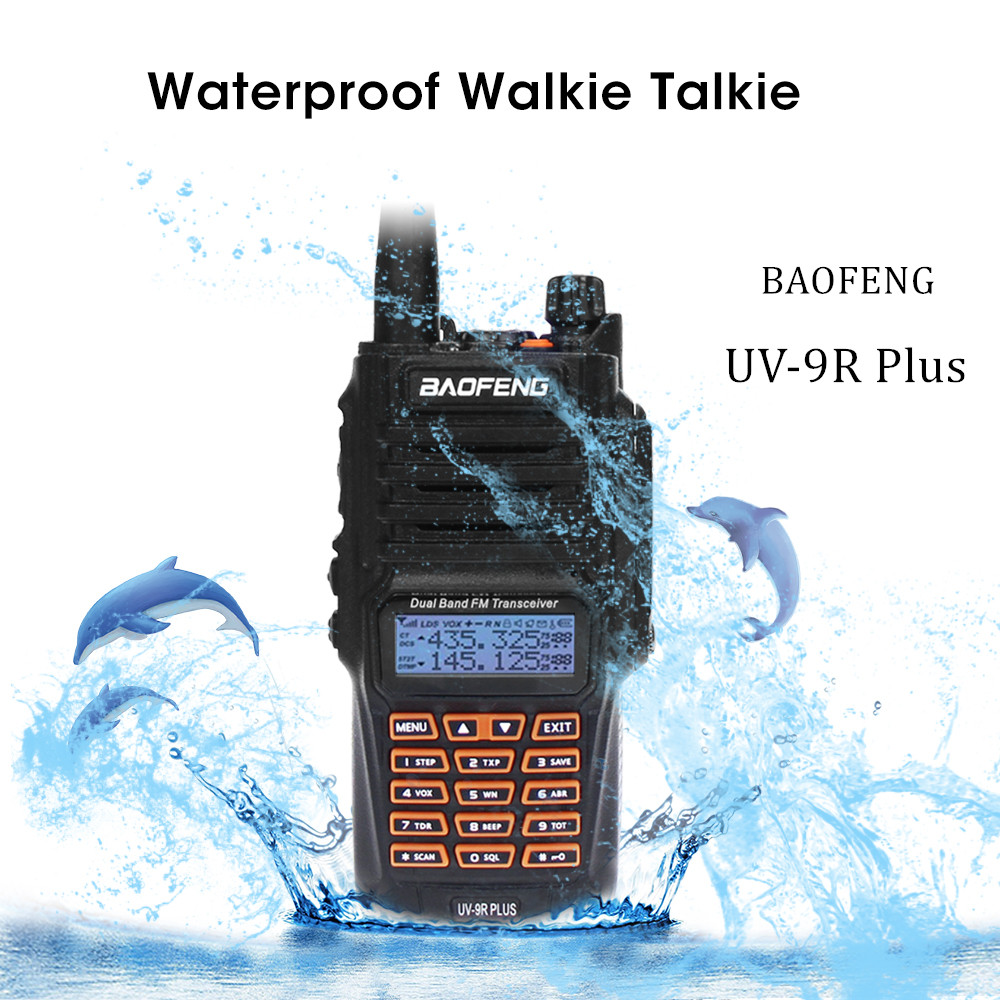 Newest Baofeng UV-9R Plus Walkie Talkie Waterproof 8W UHF VHF Dual Band 36-174/400-520MHz Ham CB Radio FM Transceiver ScannerNewest Baofeng UV-9R Plus Walkie Talkie Waterproof 8W UHF VHF Dual Band 36-174/400-520MHz Ham CB Radio FM Transceiver Scanner