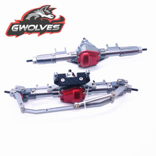 GWOLVES RC Crawler Scale Car CNC ALL Metal Front / Rear Axle for 1:10 RC Rock Crawler Car Axial SCX10 90046 D90 TFL