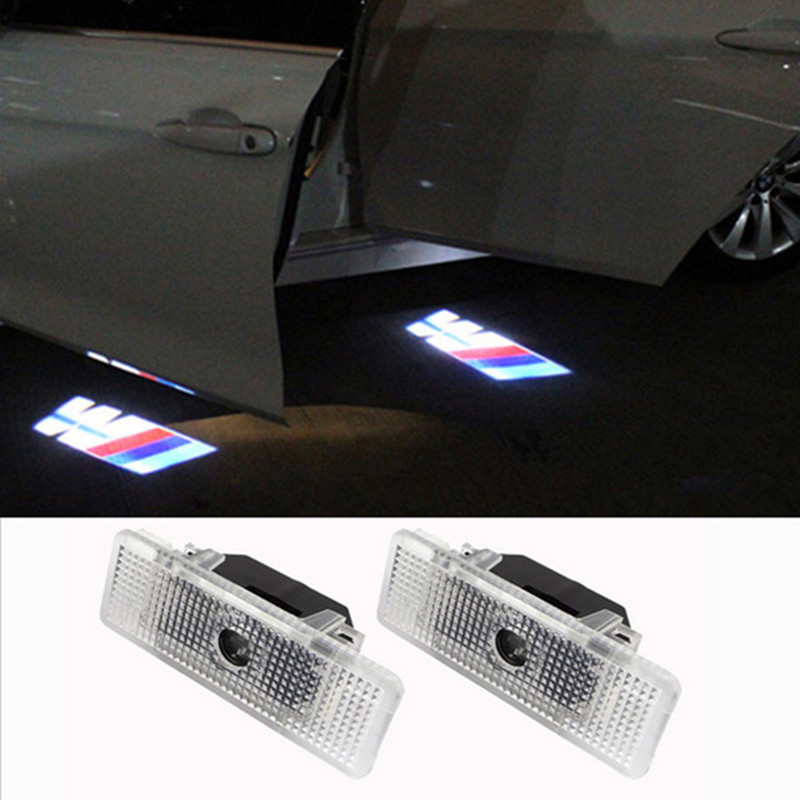 2X LED Car Door Laser Projector 3D Ghost Logo Shadow Light Decoratived LED Welcome Light For BMW E39 E53 Free Shipping 2 x newest led car door light ghost shadow light welcome laser projector logo for fiat panda doblo ducato bravo stilo 500 punto
