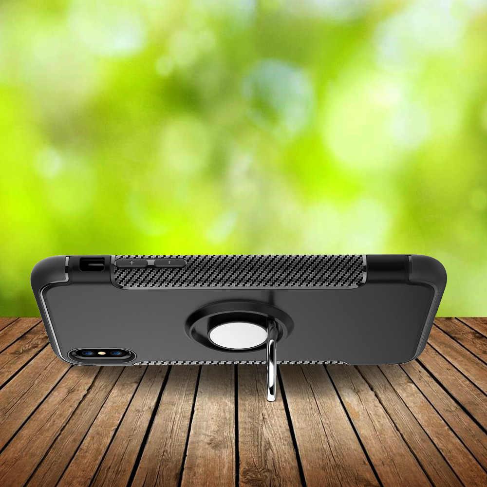 Мягкий чехол из ТПУ для Iphone X 6 6 S 7 8 5s, чехол для телефона iPhone 6 S plus 7 plus XR XS, максимальный чехол, кольцо из углеродного волокна, Coque Fundas Etui