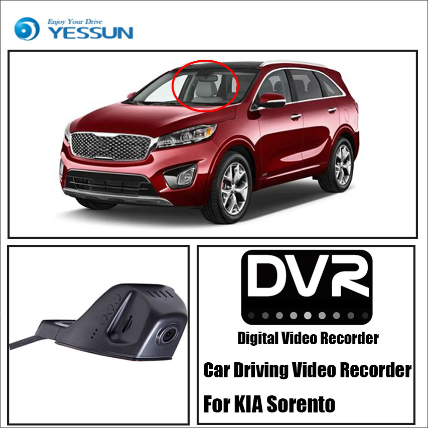 YESSUN For KIA Sorento Car Front Dash Camera CAM DVR Driving Video Recorder Black Box Function - For iPhone Android APP Control for kia carnival car driving video recorder dvr mini control app wifi camera black box registrator dash cam original style page 3