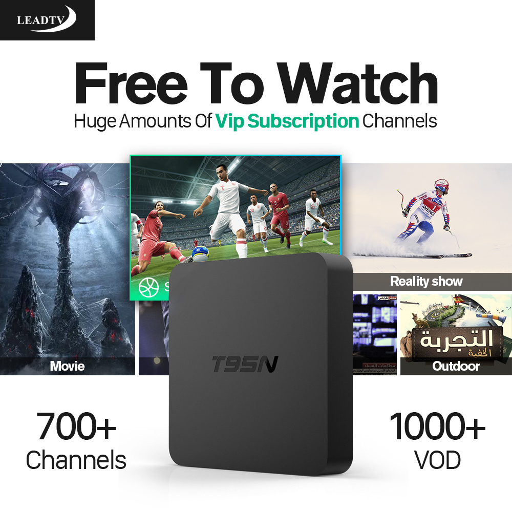 Dalletektv Andorid TV Box 2GB RAM IPTV Europe Arabic French Spain Tunisian Subscription Wireless Smart Media Box