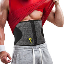 NINGMI Body Shaper Men Waist Trainer Modeling Belt Neoprene Sauna Tummy Trimmer Strap Corset Cincher Slimming Shapewear Brace цены