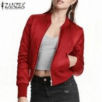 2015 Hot Autumn Winter Fashion Women V Neck Top Quilting Jacket Short Thin Padded Bomber Zipper