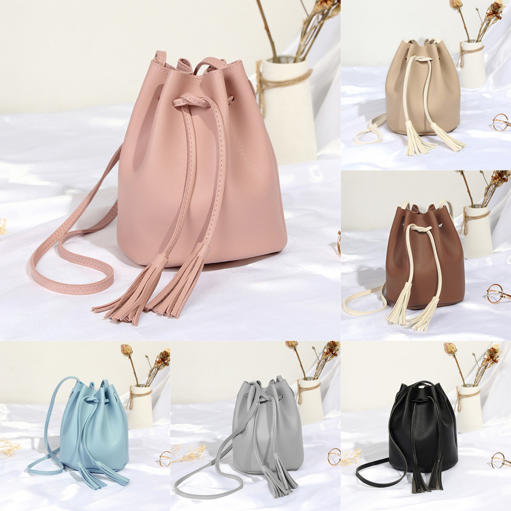 2018 Hot Sale Messenger Bags Women Fashion Tassels High Capacity Bucket Bag High Quality Shoulder Crossbody Bag bolsos mujer S