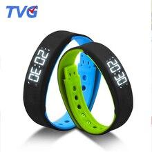 2016 TVG Marca Mens Relojes de pulsera de Moda Deportiva Reloj LED Hombres Reloj Digital Podómetro Sleep Monitoreo Termómetro Relojes Reloj