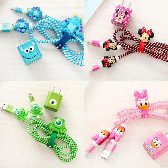 Diy cartoon cable protector usb cable earphone protector set with cable winder 2017 new spiral cord protector cable wire organizer diy set for iphone usb charger solutioingenieria Choice Image
