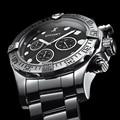 Switzerland EFFORT Men Luxury Brand Quartz Wrist Watch Waterproof Full Stainless Steel Sport Military Chronograph Stop Whatch