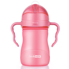 Water Bottle for Kids Toddler Infant Baby Healthy Feeding Cup Safe Tritan+Food Grade PP Material Lovely Baby Water Cup Milk Cup(China)