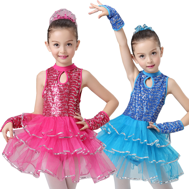 bb9d2659d Vestido de Ballet para niñas Niñas Ropa de baile para niños trajes de baile  de Jazz para niñas lentejuelas danza leotardo chica Ropa de baile en Ballet  de ...
