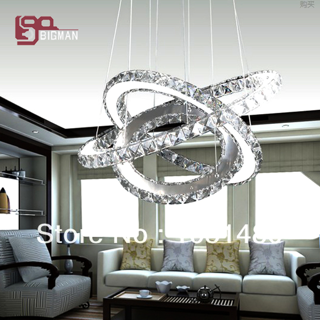 Moderno e minimalista LED lampadario di cristallo soggiorno lampada ...
