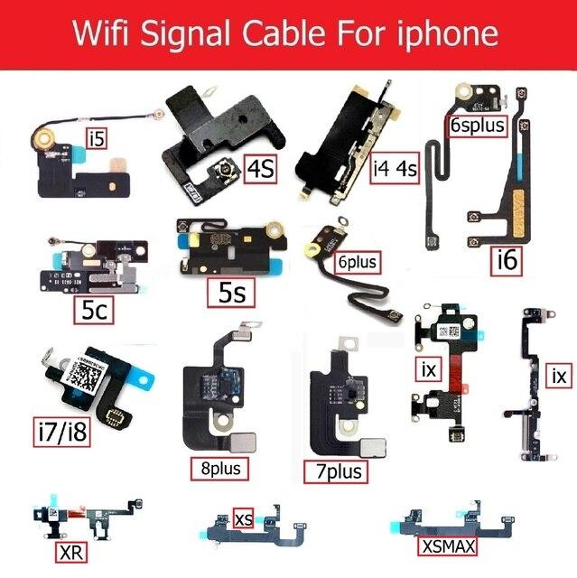 8f99acc90e3 De señal Wifi Antenna Flex Cable para iPhone 4S 5S 5c 6 s 6 7 8 ...