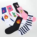 Japan Korea Fashion Harajuku Unicorn Socks Men & Women Cotton Gosha Rubchinskiy Men's Socks Banana Fire Gun Cool Funny Sox 188w