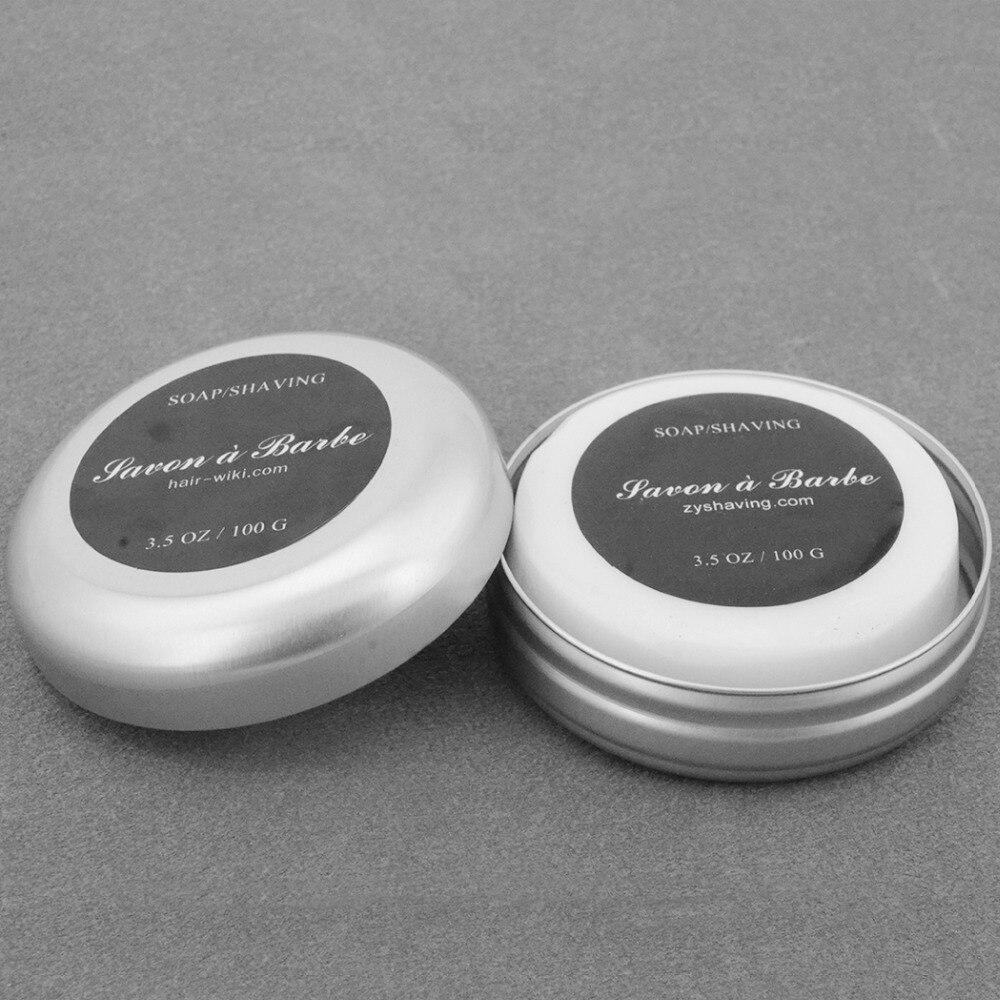 ZY Men Barber Shaving Soap Foaming Lather Shave Beard Shaving Cream For Straight Razor Shaver Badger Hair Brush + Aluminum Box