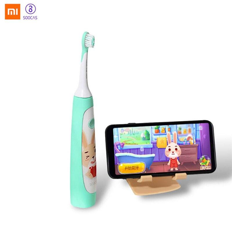 Xiaomi SOOCAS D'origine Enfants Brosse À Dents Électrique 2 Brosse Modes Sans Fil USB Rechargeable Étanche avec APP Fun Teching